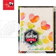 Coeurs radiants pochoir matrices de découpe en métal et timbres pochoir pour bricolage Scrapbooking décoratif gaufrage artisanat