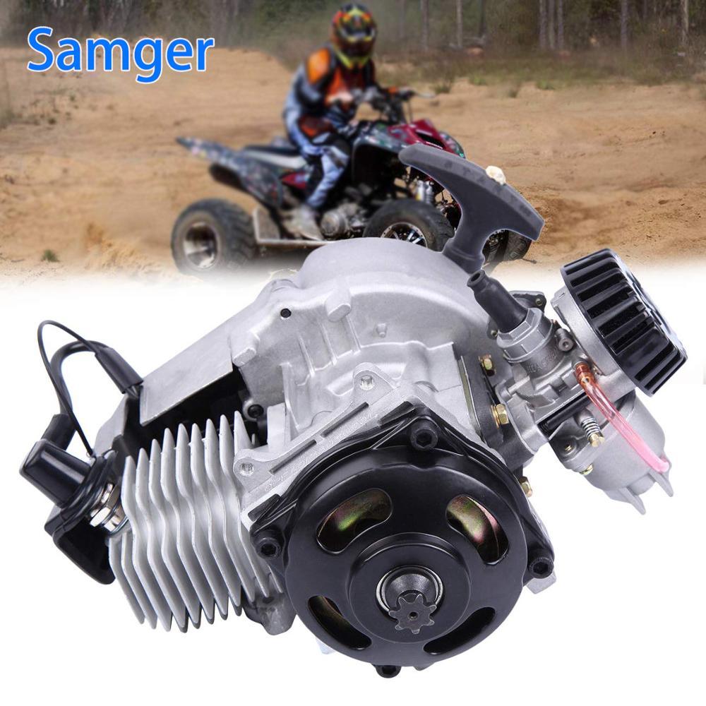 Samger 49CC 2 Stroke Pull Start Engine Mini Smart Moto Engine Pocket Pit Quad Dirt Bike Motorcycle ATV 4 Wheel Accessory