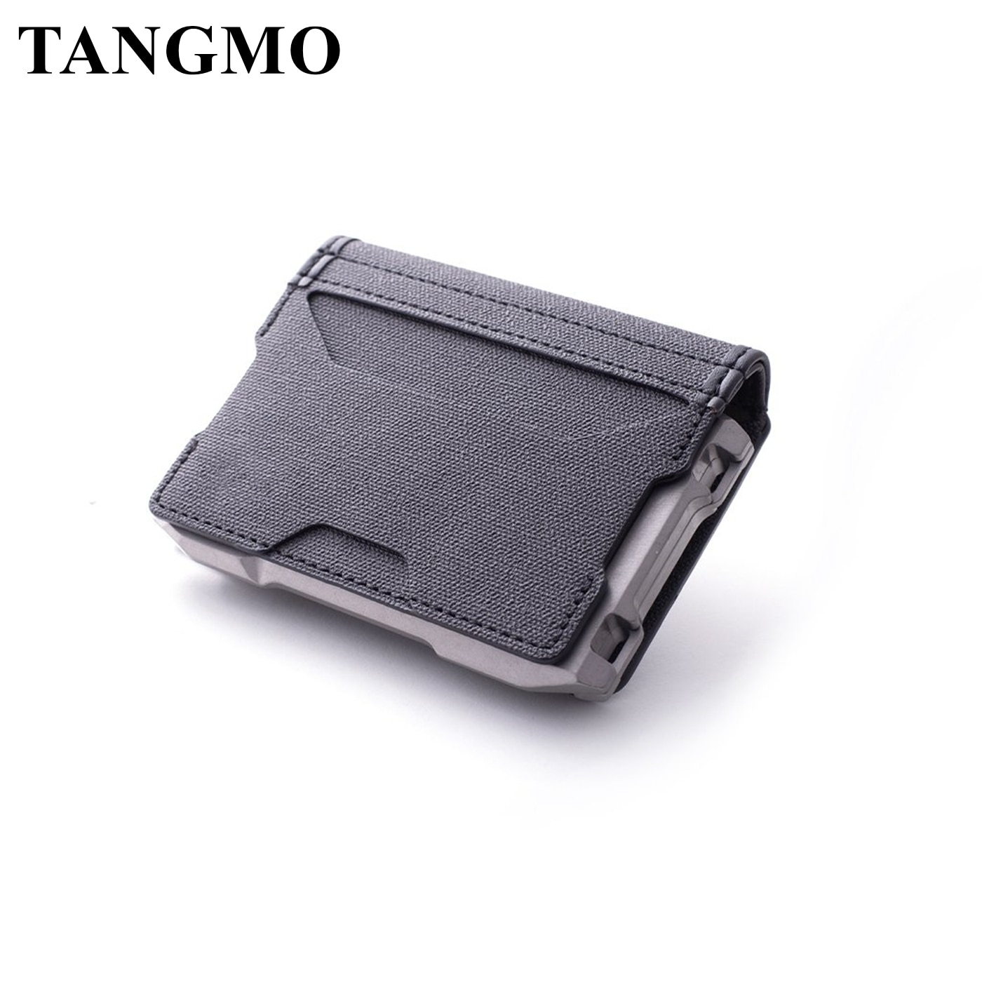 Tangmo 2021メンズ財布二つ折りアルミニウム金属rfidクレジットカードホルダー銀行idカード会員カードケース実用的な戦術的なバッグ