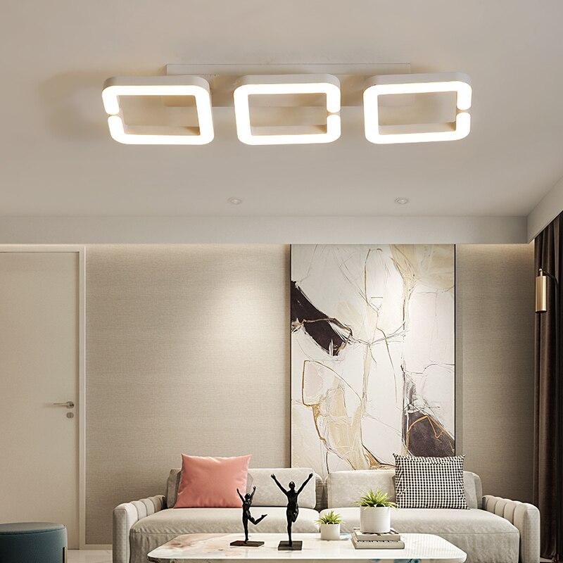 Lámpara de araña de techo Led moderna marrón, lámpara de techo led...