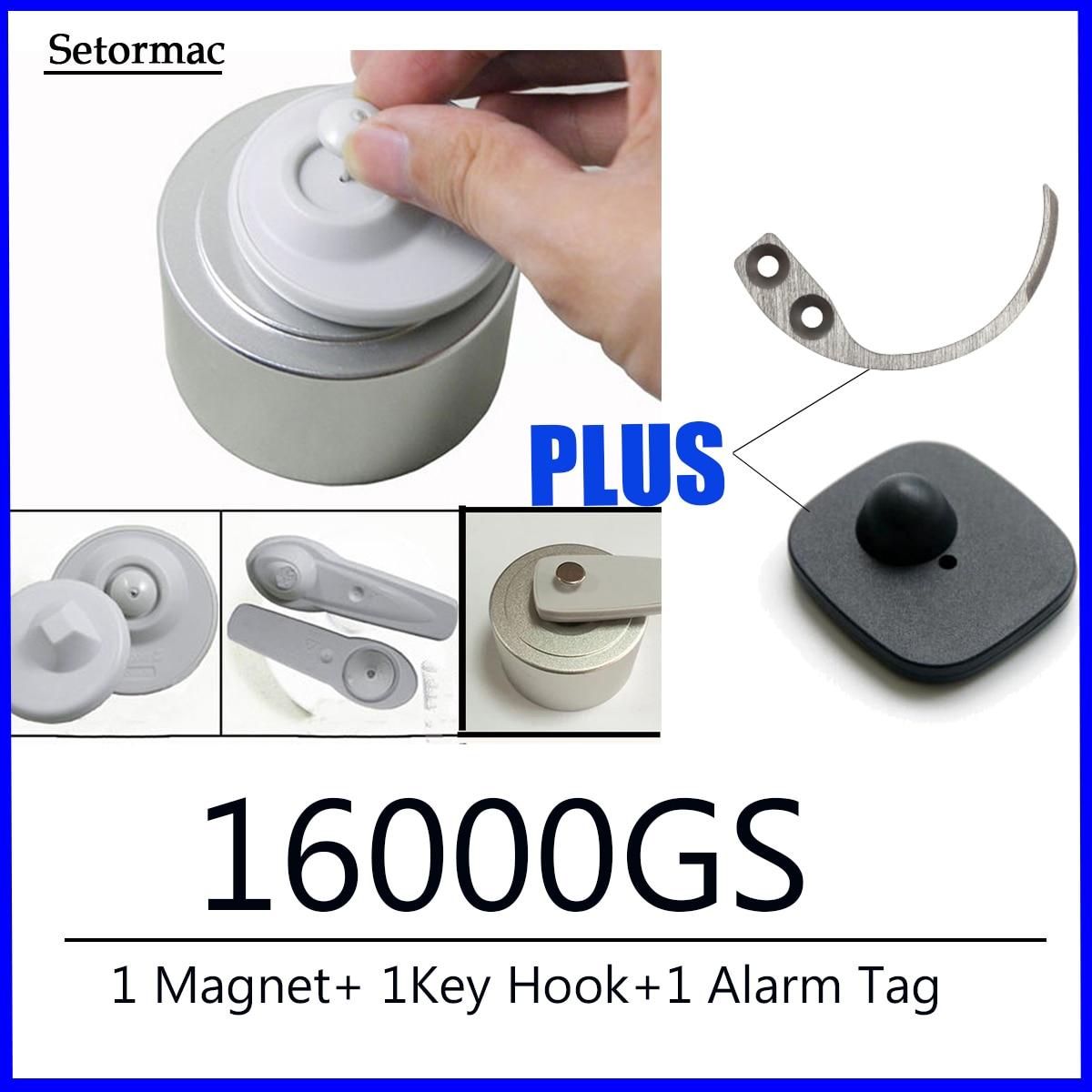 Магнит для удаления бирок 16000GS, устройство для съемки бирок + переносной крючок для ключей + датчики сигнализации, защита от кражи