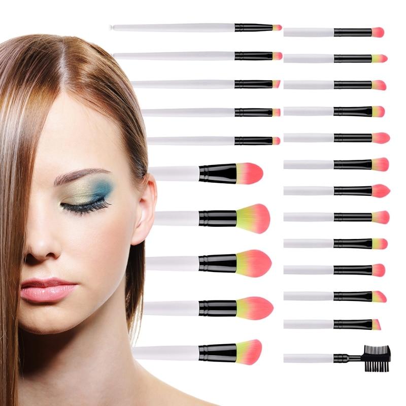 Rosto em pó blush eyeshadow lábio escova kit profissional 23 pçs pincéis de maquiagem conjunto