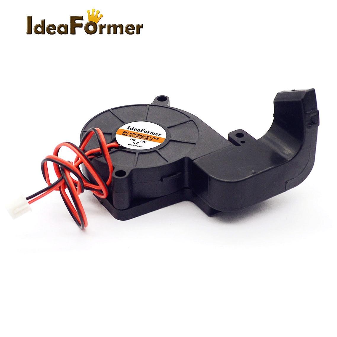 1 комплект MK10 5015 вентилятор с направляющей воздуховода Монтажный кронштейн DC 12V/24V с 2pin кабелем для деталей 3D принтера