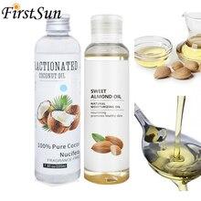 100ml huile damande douce naturelle bio soins du visage huile essentielle traitement des cheveux huile de noix de coco Pure pour la peau Massage du corps huile Spa