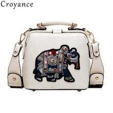 Croyance Bramd Women Totes PU Leather Elephant Handbag Hot Sale Party Purse Ladies Messenger Crossbody Shoulder Bags