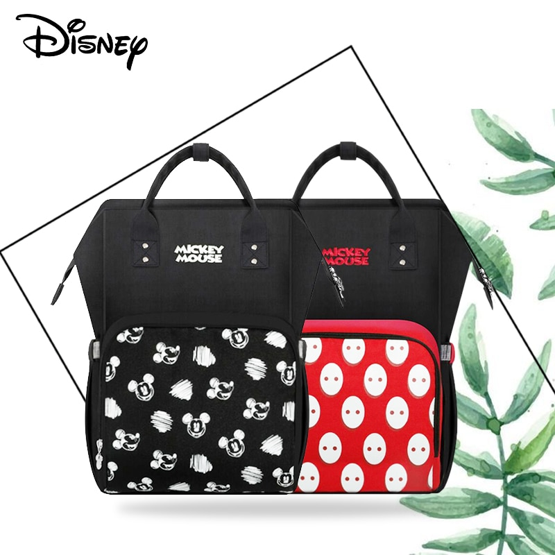 Disney Mummy Diaper Bag USB Large Capacity Waterproof Zipper Backpack Fashion Maternity Nappy Bags Baby Stroller New