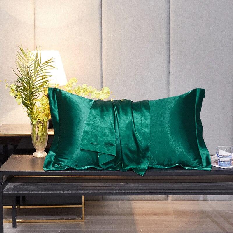 2 قطعة مضاهاة التوت وسادة حرير s كيس بلون غطاء وسادة مريحة كرسي مقعد ديكور المخدة وسادة حرير حالات 48x74cm