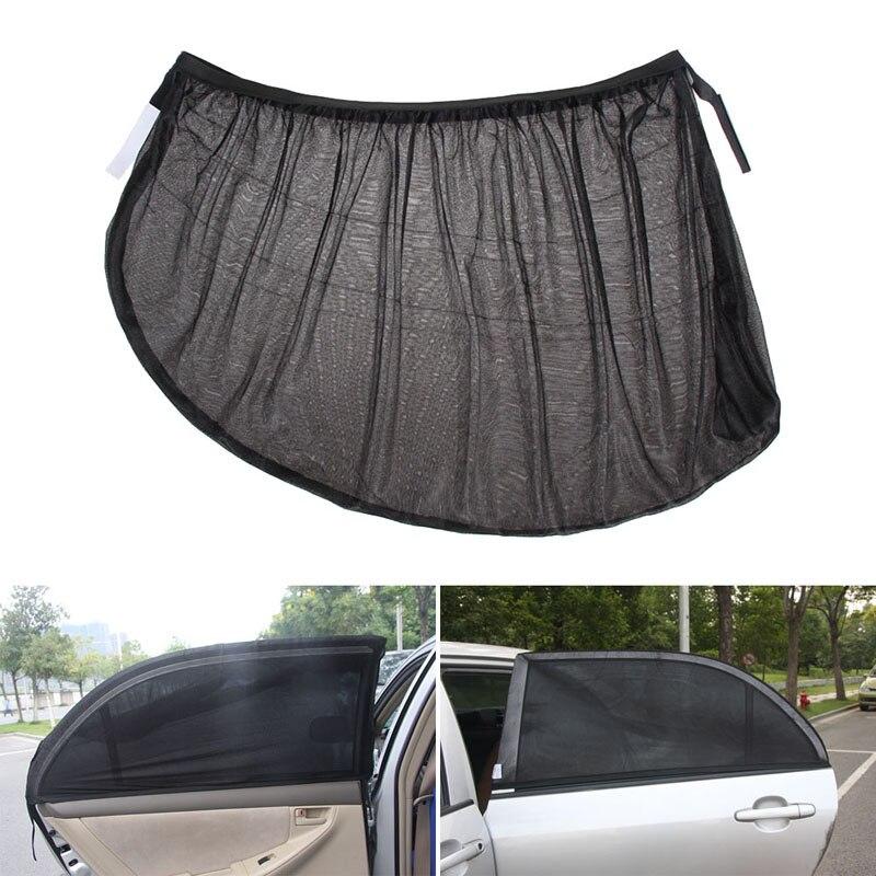 Ajustable negro de malla lateral del coche parasol de ventanilla trasera Auto...