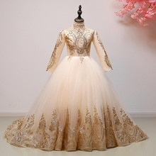 Robe de fête danniversaire pour fille robe de mariée princesse fleur demoiselle dhonneur Pengpeng robe de banquet brodée en fil