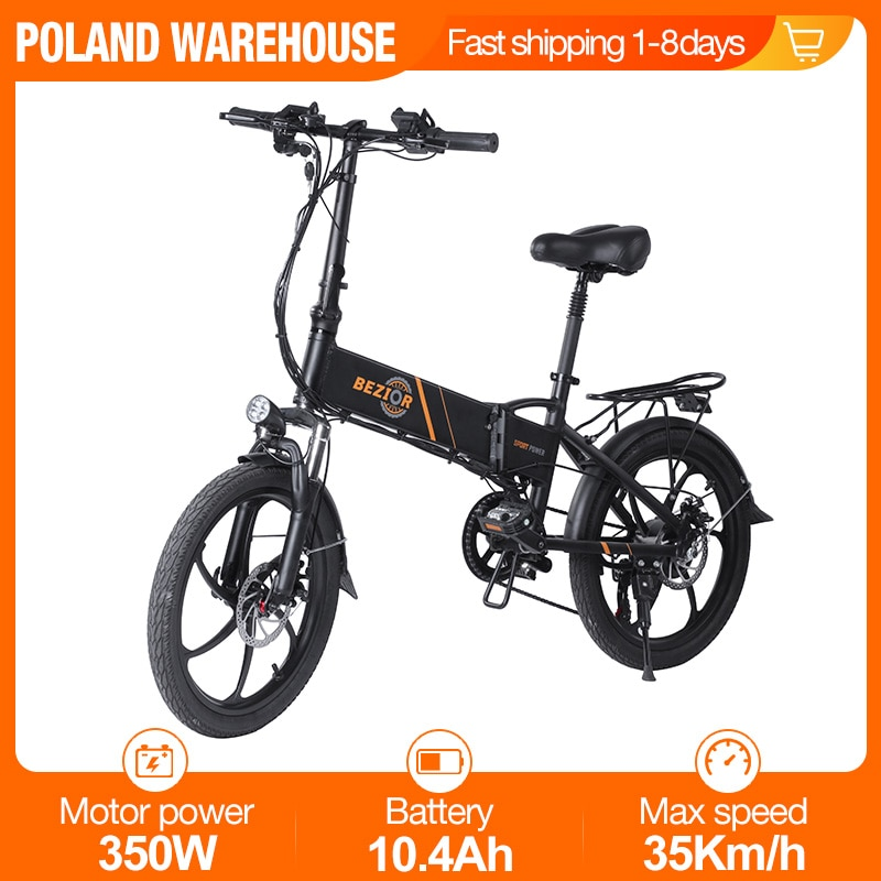 [EU STOCK] BEZIOR M20 Foldable Electric Bike 20Inch Mens Women's Bicycle 350W 48V 10.4AH 35KM/H Electric Bicycle E-Bike