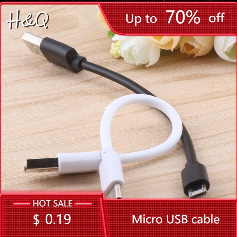 Cable Mini USB corta de 15cm para teléfono inteligente LG Android Micro USB tipo C Cable adaptador de carga sincronizar datos USB
