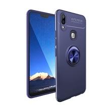 Luxus Metall Ring Telefon Fall Für VIVO V9 Z5X IQOO Z1 Pro Y7S Y3 Y17 X27 X23 V15 Stoßfest Fall weiche Glatte Magnet Zurück Abdeckung