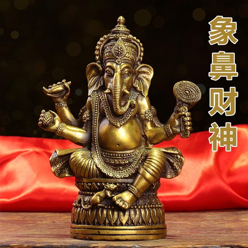 Sudeste asiático casa empresa loja talismã dinheiro desenho tailândia elefante ganesh mammon deus da riqueza feng shui estátua de bronze