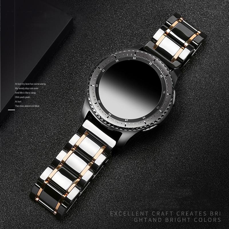Huawei watch GT 2 strap 22mm Ceramic band for Samsung Galaxy watch 46mm strap Gear S3 Frontier Ceramic Bracelet 22mm watch band
