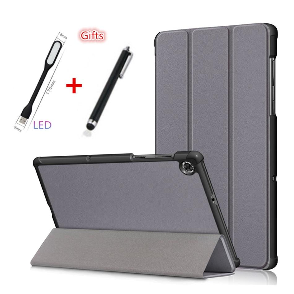 Funda para Lenovo Tab M10 Plus, funda para Tablet Tab M10 Plus, 10,3 pulgadas, delgada, magnética, plegable, soporte de piel de PU, carcasa de piel + LED + bolígrafo