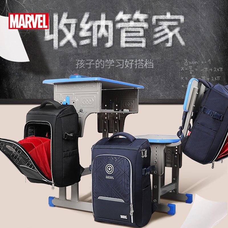 Authentic Disney Schoolbag Primary School Sixth Grade Boys Reduced Burden Large Capacity Lightweight Backpack Captain America