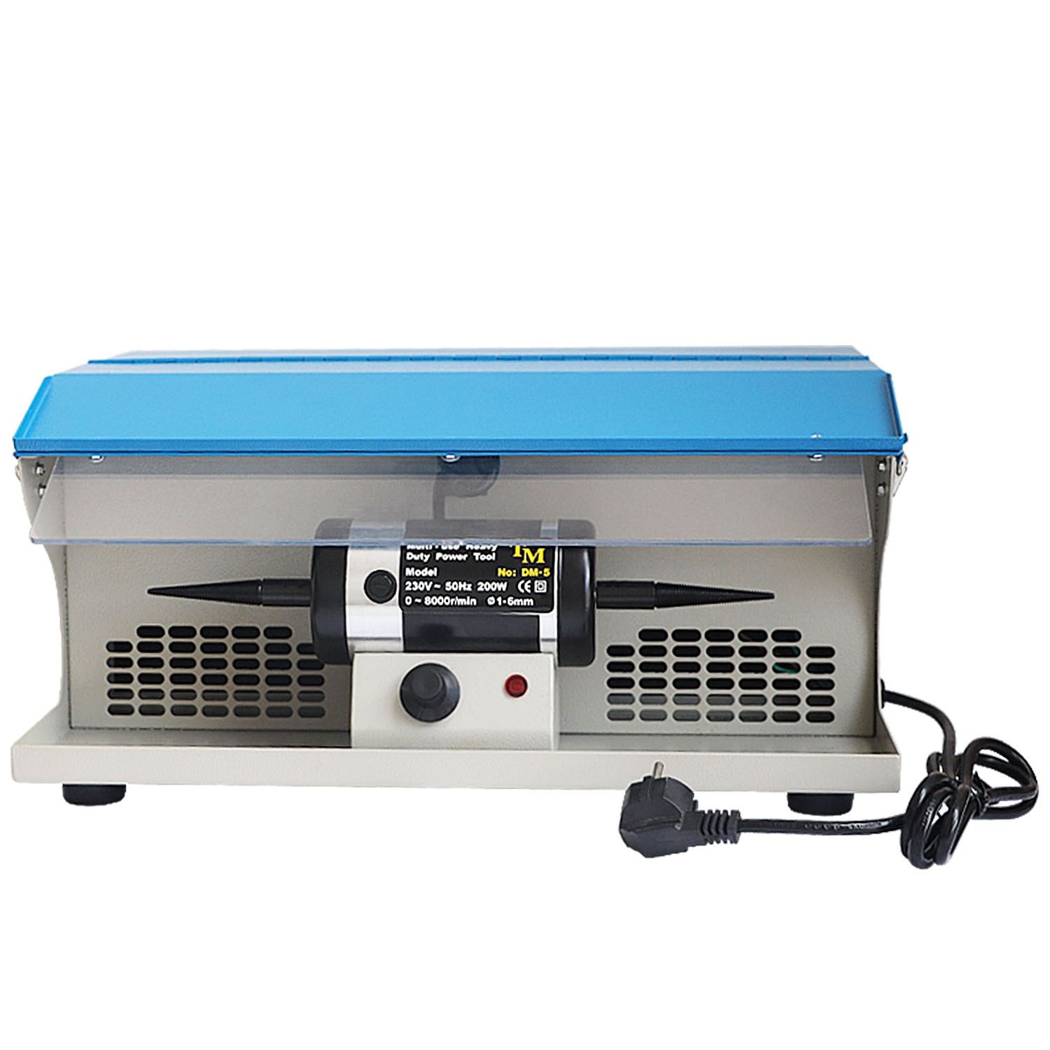 110V/220V DM-5 Dust-Absorbing Polishing Machine With Dust Collector Desktop Double-Headed Cloth Wheel With Lamp Speed Control