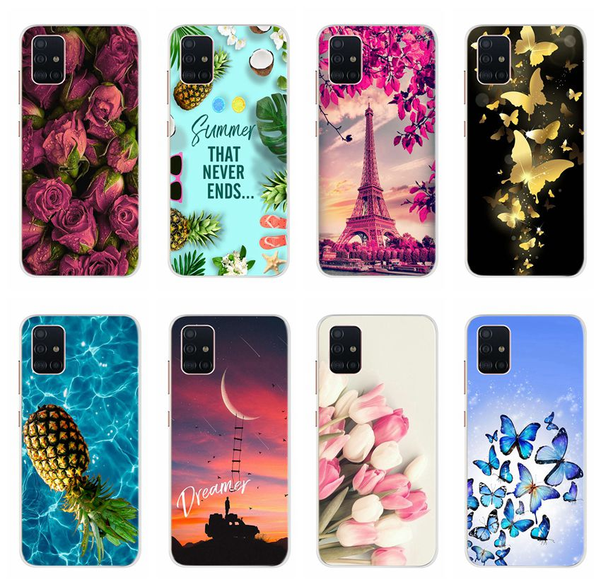 Neue Stilvolle Telefon Fall Für Samsung Galaxy A51 A71 A91 Abdeckung Weichen Silikon TPU Nette Dünne Fundas Für Samsung A51 a71 A91 Zurück Fall