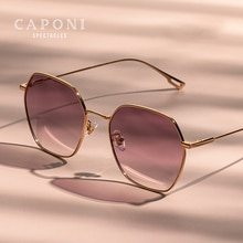 CAPONI Gradient Women's Sunglasses Polarized Fashion Brand Designer Sun Glasses Anti UV Ray Original
