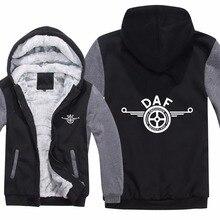 DAF Trucks Hoodies Jacket Winter Pullover Man Coat Men Wool Liner Fleece DAF Sweatshirts