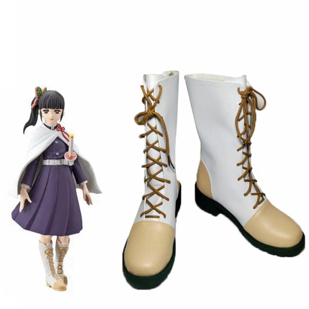 للجنسين أنيمي كوس شيطان Slayer Tsuyuri كاناو تأثيري ازياء أحذية أحذية هالوين حفلة عيد الميلاد مخصص