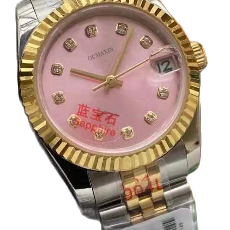31mm high quality ladies watch sapphire glass automatic green dial imported 316L stainless steel fashion ladies enlarge