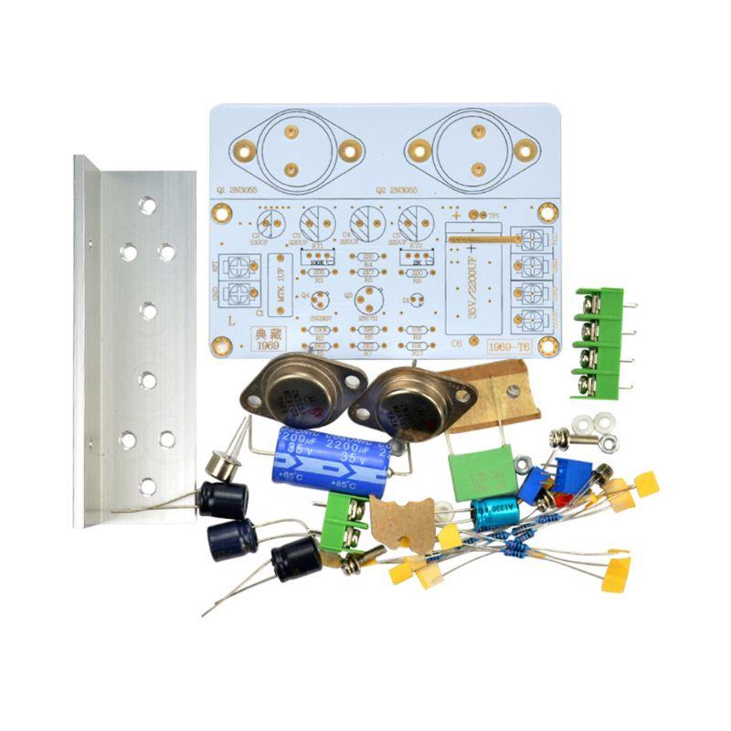 Placa amplificadora de potencia HiFi 1969 Clase A, placa ensamblada PCB, Kit...