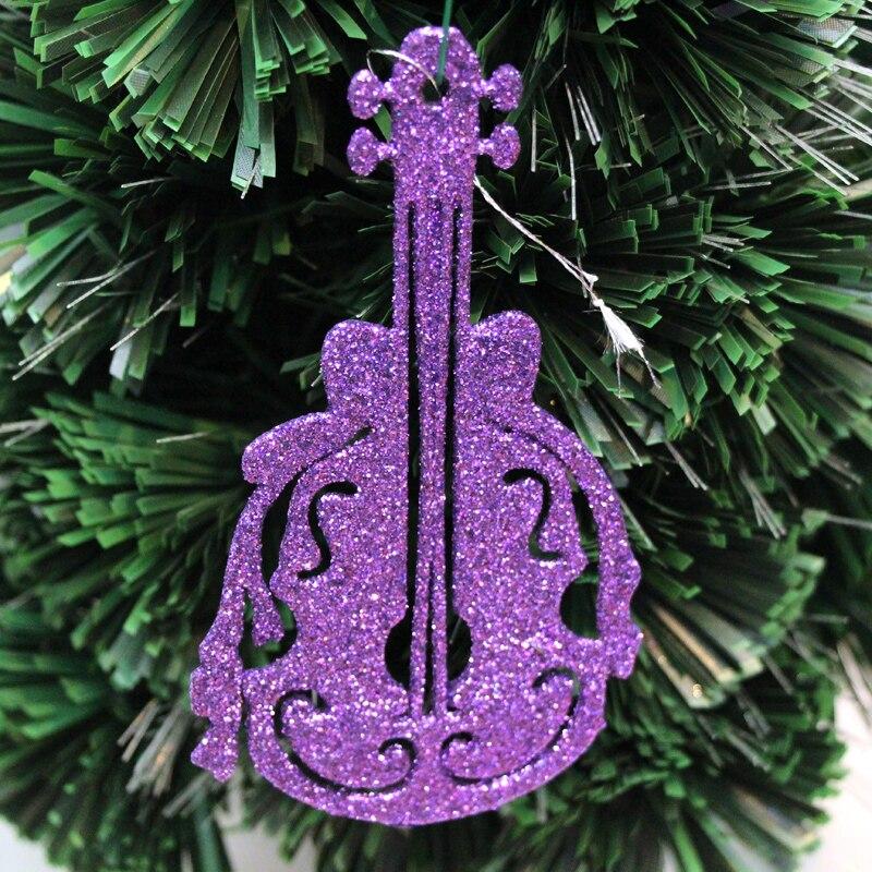 Decoración de Navidad Comercio exterior 13cm oro polvo Lute colgante accesorios para actuación en escenario suministros traje infantil up