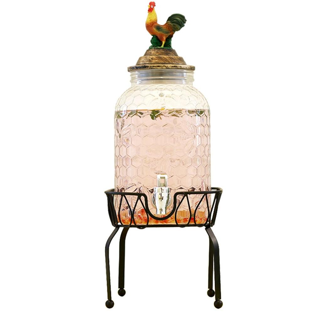 Dispensador de bebidas de jugo de té de cerveza, vino, cubo, soporte Soporte redondo cesta de soporte fiesta Bar Pub decoración hogareña cocina suministros