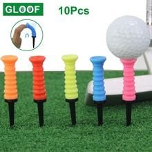 10Pcs Golf Tees Ball Nail Sporting Training Aids Outdoor Plastic Golf Training Supplies Plastic Ball