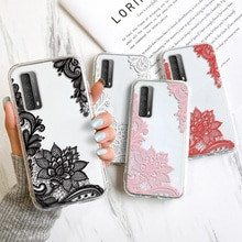 Lace Flower Case For Huawei P30 Lite Funda For P40 P20 Lite Honor 9A 8X 10X Lite Y5 Y9 Prime Y7P Y5P
