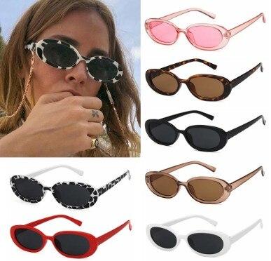 Солнцезащитные очки в стиле ретро UV400 женские, небольшие модные Поляризационные солнечные очки в овальной оправе, с защитой от ультрафиолет...