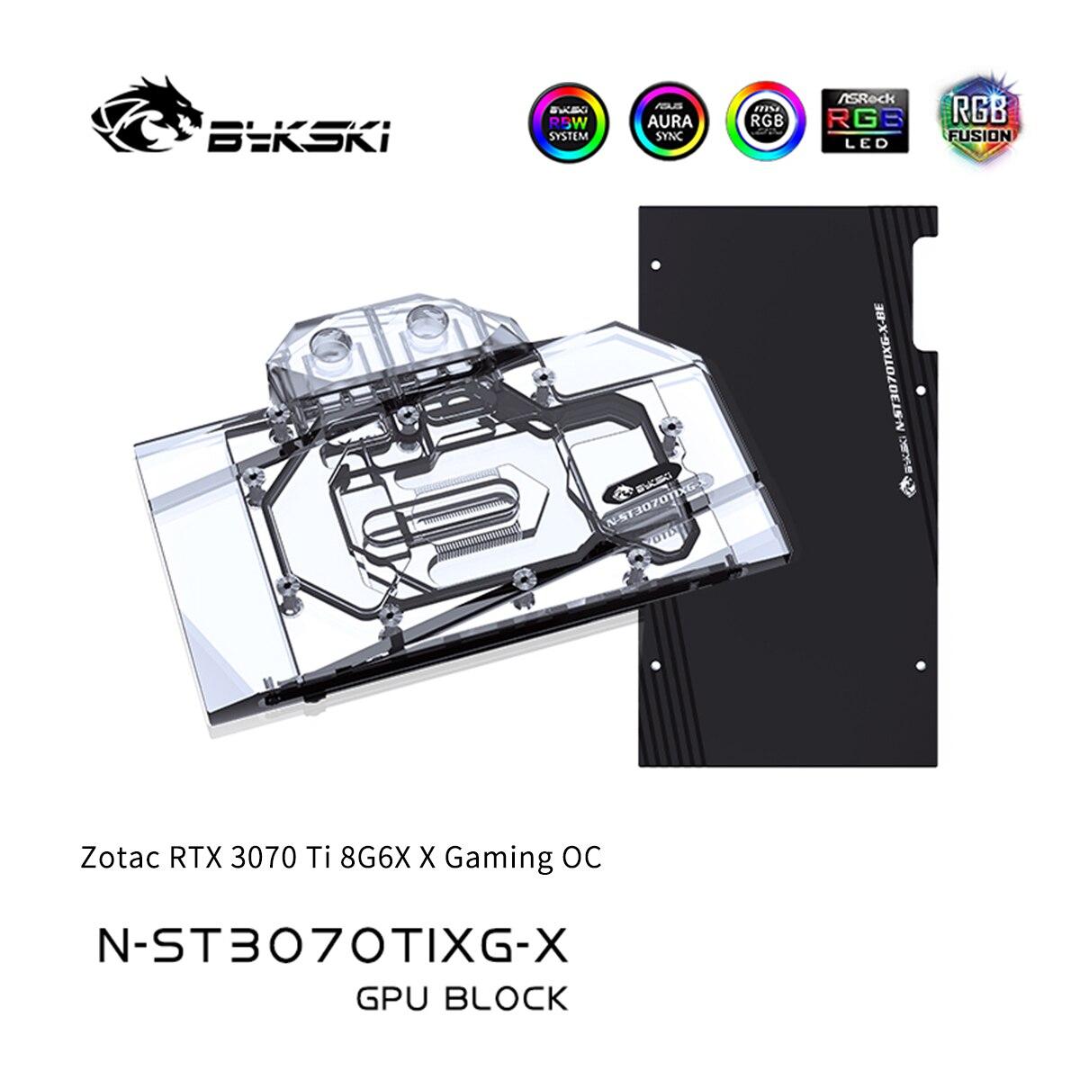 Bykski GPU كتلة ل Zotac RTX 3070 Ti 8G6X X الألعاب OC غطاء كامل GPU تبريد المياه برودة N-ST3070TIXG-X