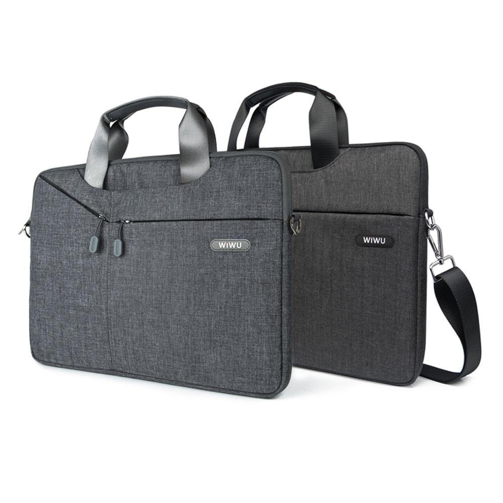 Bolsa de mensajero multifunción para portátil WiWU para MacBook Pro 16 15 13 pulgadas, bolsa impermeable para portátil 15,6 17,3, bolsa de transporte para MacBook Air