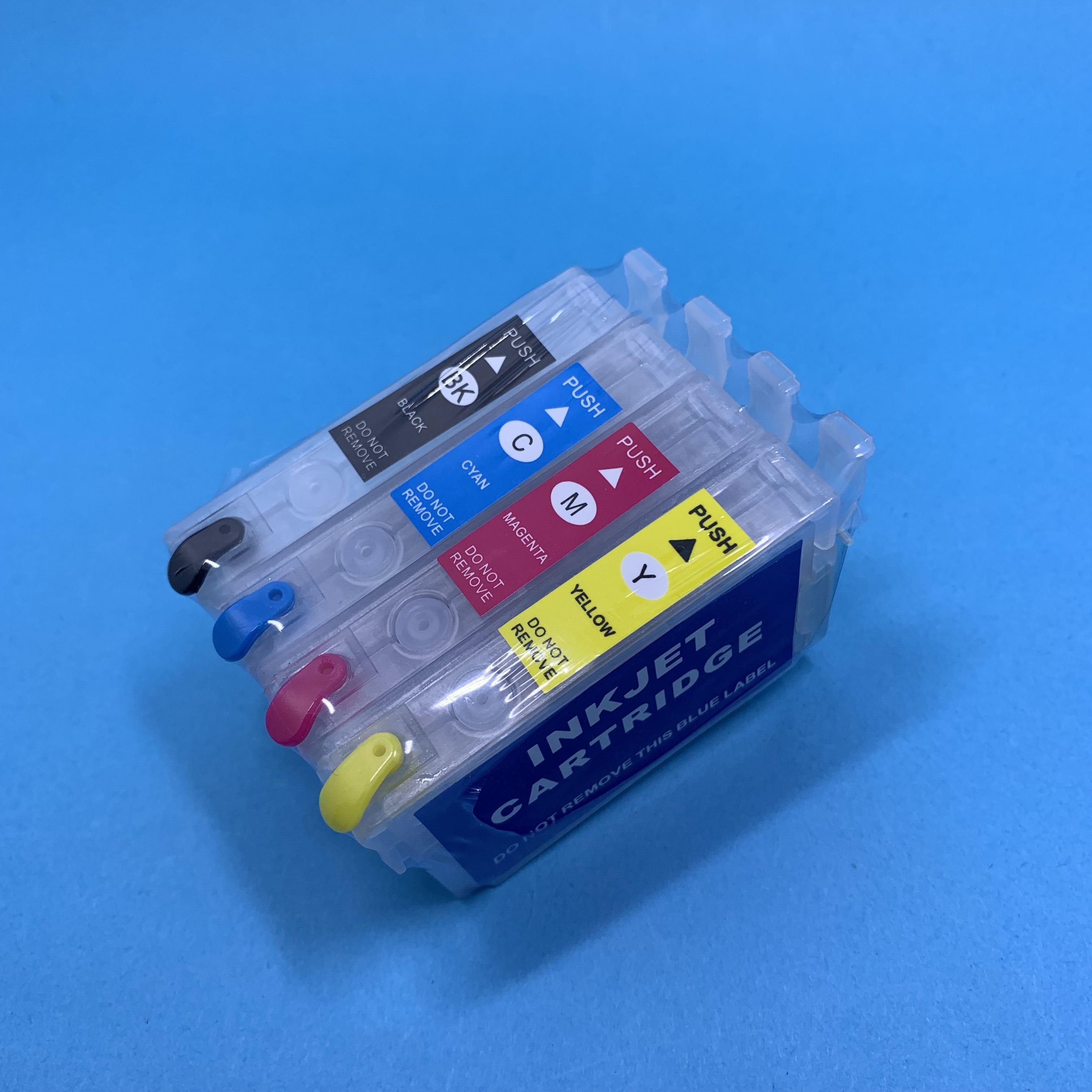 YOTAT cartucho de tinta Recarregáveis T1711 T1712 T1713 T1714 para Epson XP-103 XP-203 XP-207 XP-303 XP-306 XP-33 XP-406 XP-413 XP313