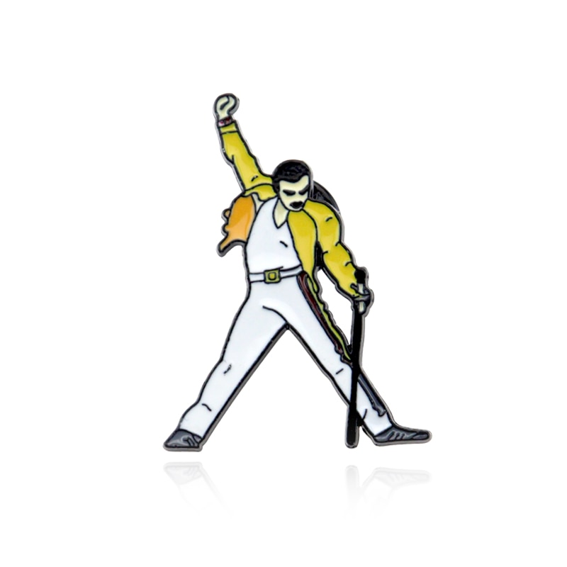 2020 New Arrive Queen Freddie Mercury Enamel Pins And Brooches For Women Men Lapel Pin Backpack Bags Hat Badge Gift Fans