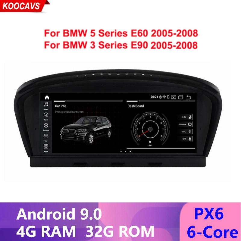 Android 9,0 para BMW serie 5/3 E60 E90 coche Multimedia GPS navegación WiFi BT multipunto táctil espejo de pantalla de teléfono CIC/CCC