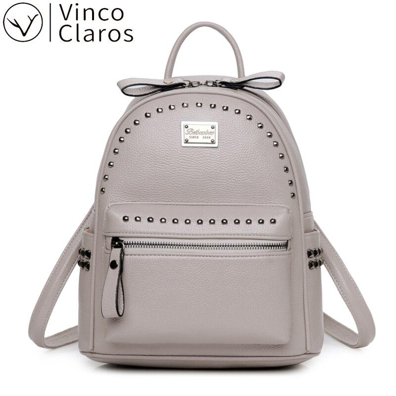 Fashion Rivet Cute Backpack Women Small Mini Backpack Leather Designer Travel Backpack for Women 2020 Backpacks for Teenager New