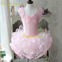 Rose Ballet Tutu robe filles gymnastique justaucorps Dancewear Ballet vêtements enfants ballerine Costume Discount Ballet Tutus