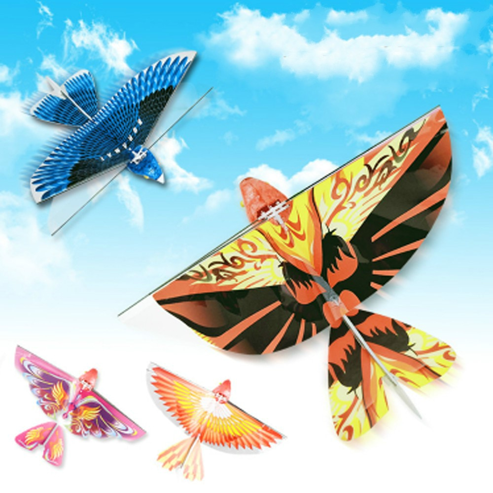 Águila en vuelo eléctrico de pájaro de rotación RC Swallow Flying Bird adornos eléctricos niños juguete pantalla realista simulada