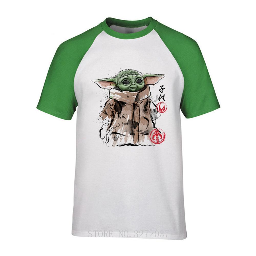 2020 Yoda Mandalorian Clan of two The Child Men T Shirt off white Pokemon Star Wars short sleeve men T-Shirt cotton Tshirt