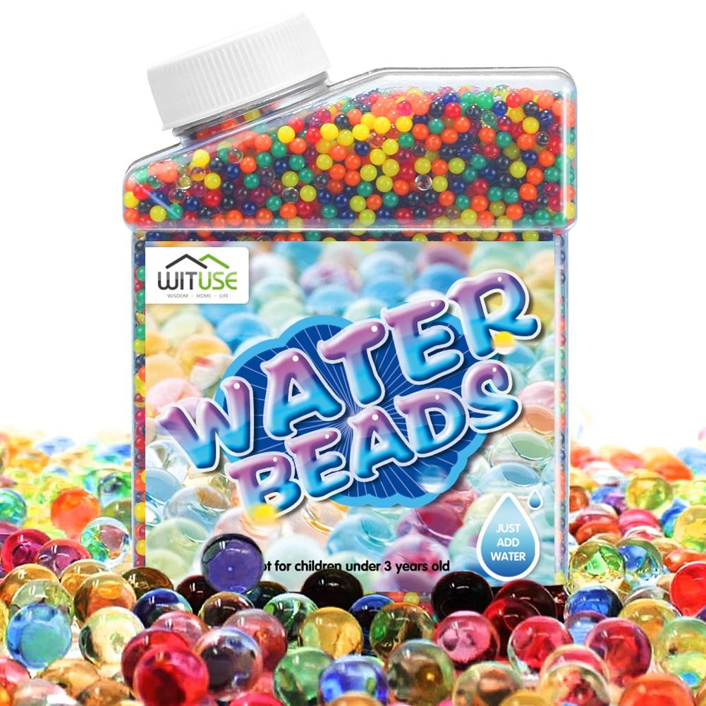aliexpress.com - Water Beads Aqua With syringe Magic Filler Rainbow Mix Kids Children Crystal Soil Soft Bullets hydrogel Guns Accessories Toys