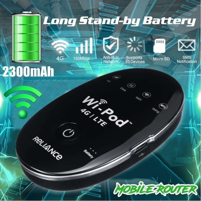 (2pcs battery)New Products 150Mbps ZTE WD670 WI POD Portable 4G LTE Mini WiFi Router enlarge