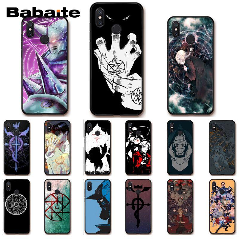 Babaite Full Metal Alchemist Brotherhood Anime funda de teléfono para Xiaomi mi5 6 A1 A2 Lite Mi9 9SE mi8lite F1 Mix2 2S Max2 3