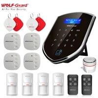 Wolf-Guard Smart 3G GSM Wifi sans fil securite a domicile systeme dalarme antivol Kit de bricolage capteur de porte PIR detecteur de mouvement cle a distance