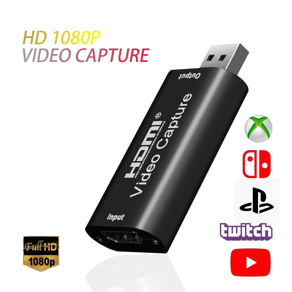 KEBIDUMEI 1080p HDMI HDR Scheda di Acquisizione Video Per Live Streaming OBS Immagine Capture USB 2.0 Grabber Recorder Box Per PS4 XBOX NS