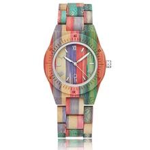 2020 Women Quartz Bamboo Watches Wooden Watch For Ladies' Watches Handmade Natural Bracelet Analog L