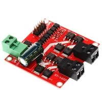 dual channel dc motor driver module 160w 7a 12v 24v h bridge l298 logic control signal optocoupler pwm drive reversing braking