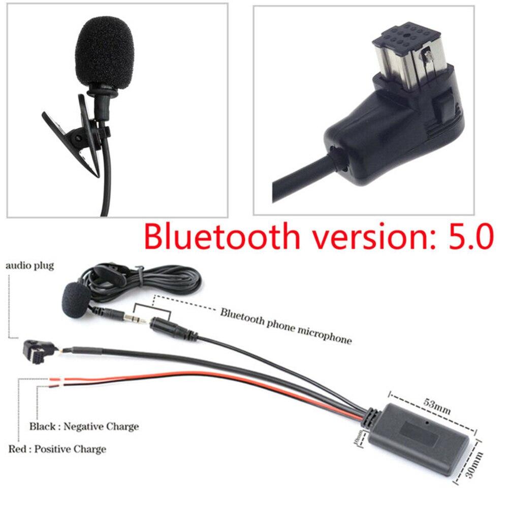 Cable auxiliar estéreo Bluetooth 5,0 con micrófono manos libres para Pioneer P99 P01 CD DVD