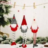 christmas faceless doll faceless gnome santa doll pendant nordic gnome land god doll christmas tree hanging ornaments doll decor